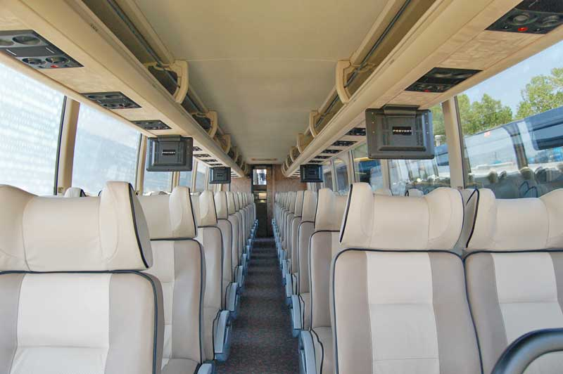 Wedding Charter Bus Interior